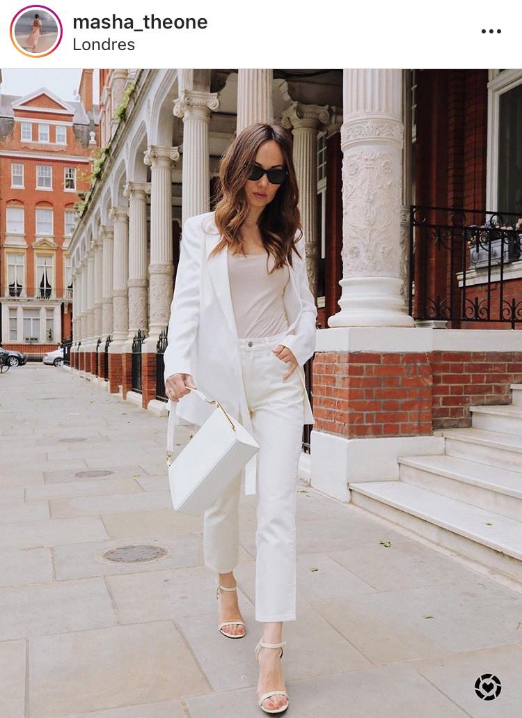 blazer blanco, white blazer, blazers, look inspo, moda, fashion, tendencia, verano 2020, girly, sofisticado, elegante, clasico, revista, magazine