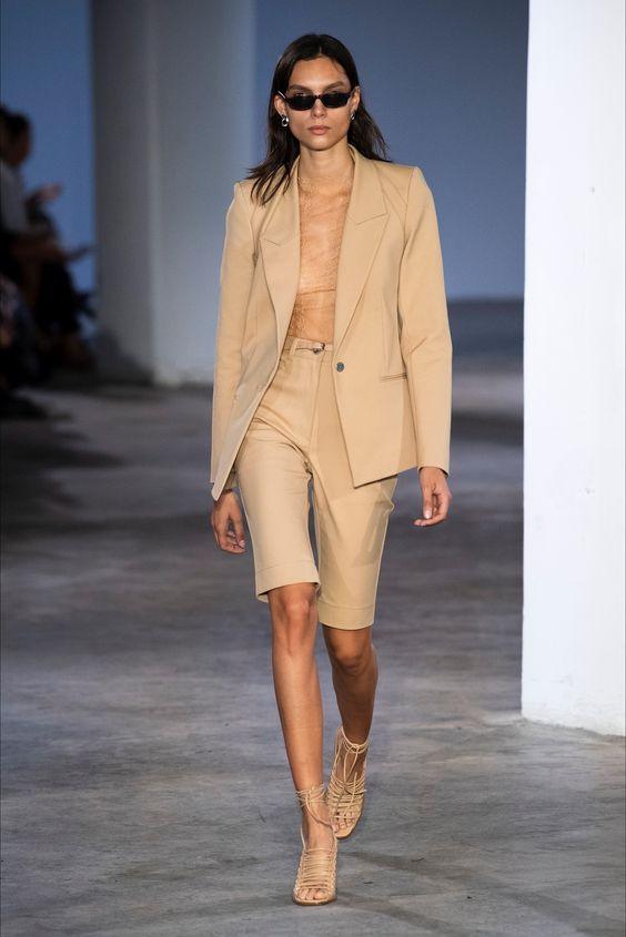 outfitinspo, outfit, estilo, moda, trajes, bermudas, blazer, short, verano, summer, tendencias, trend,