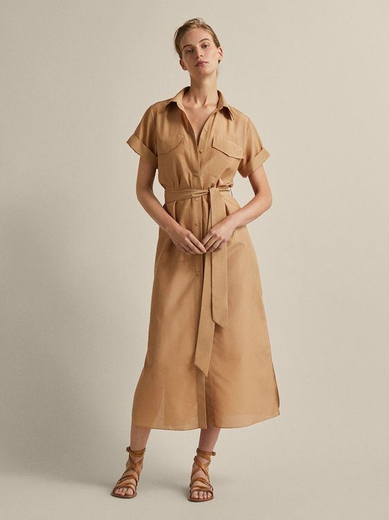 safari dress, vestidos, vestidos estructurados, moda, fashion, tendencias, look safari, estilismo, trendy, fashionista, 2020, magazine, revista
