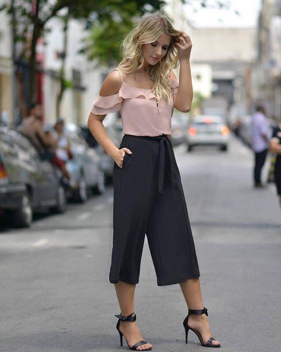 culottes culotte midi pants pantalones elegante clasico sofisticado moda fashion mujeres fashionista stylist fashion lover tendencias wide leg pants