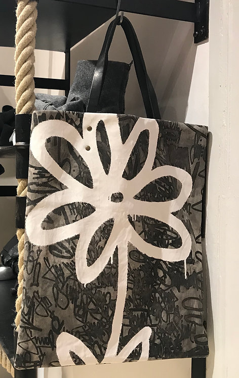 FLOWER CANVAS TOTE BAG SIMEON FARRAR