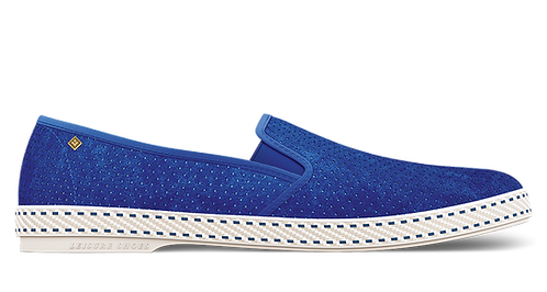 SULTAN SUEDE BLUE PERFORATED RIVIERAS WOMEN TEL AVIV AT THEGATE24