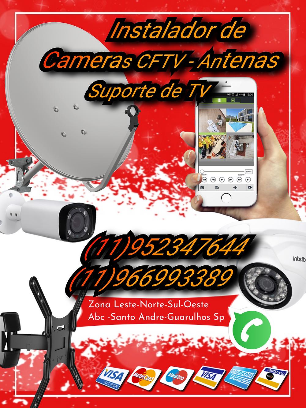 instalação de antena digital na Cidade Tiradentes antenista suporte para tv instalador de antenas