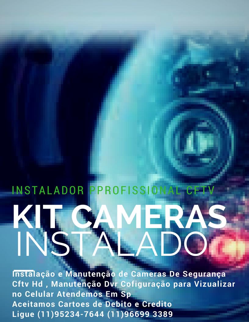 Instalador Câmeras de Segurança CFTV F: 11 95234 7644Whatsapp