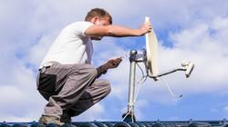 Apontamento de antena via satelite