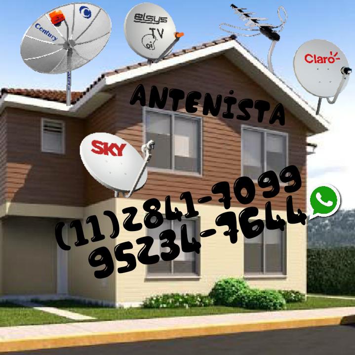 Tecnico de Antena Sky Zona Leste norte sul oeste Sp