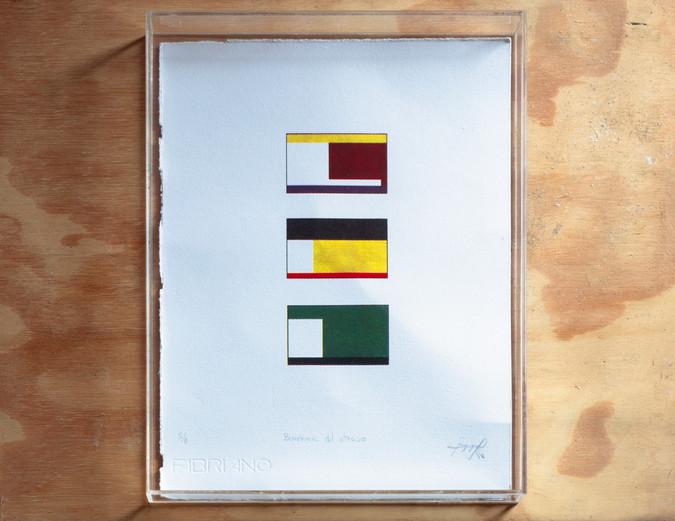 Banderas del Atraso, 2018 Cuatricromía, 21 x 29 cm Edición de 08