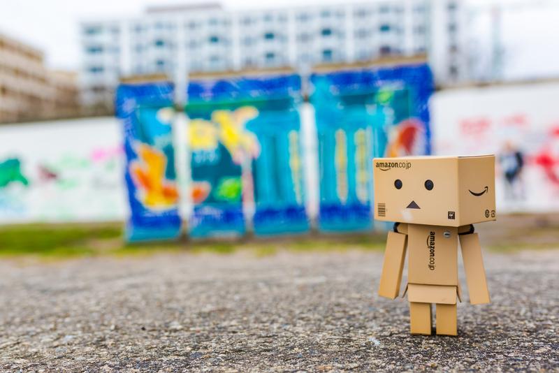 Danbo an der Berliner Mauer