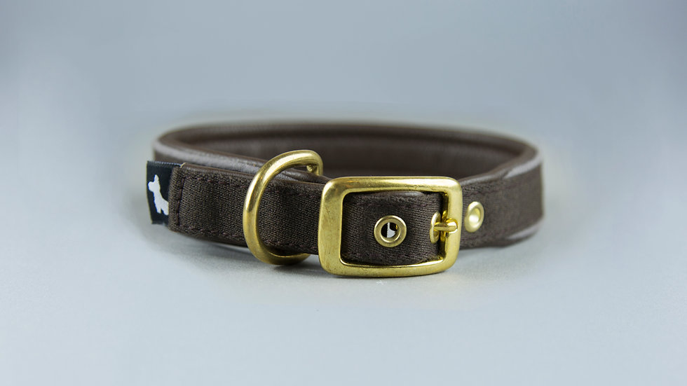 Halsband - Braun-Leder