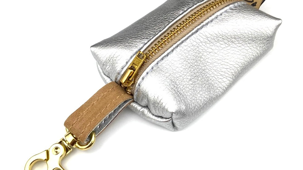 "Kotbeutelspender -""Gold Label"" - silber"
