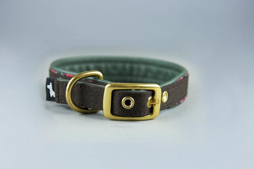 Halsband - Grün-Leder