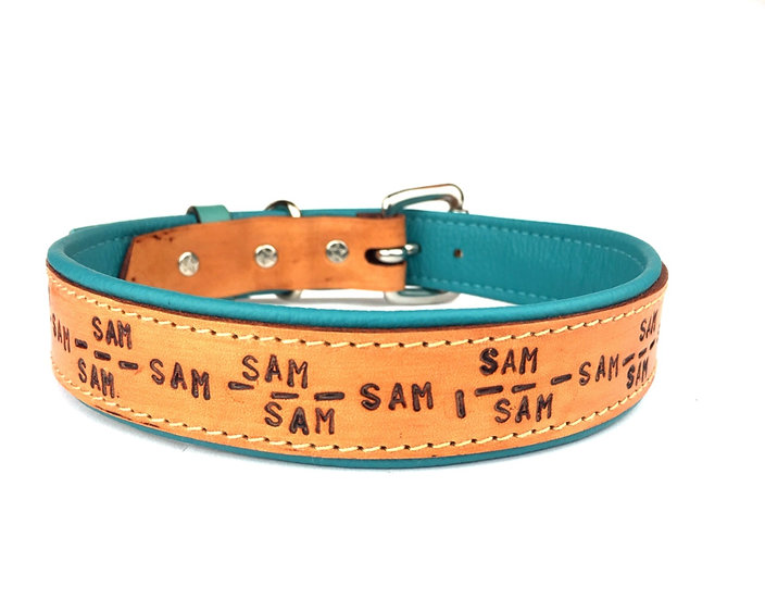 Lederhalsband - Personalisiert