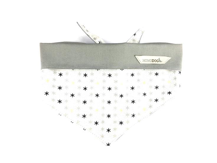 Halstuch - Stern - weiß