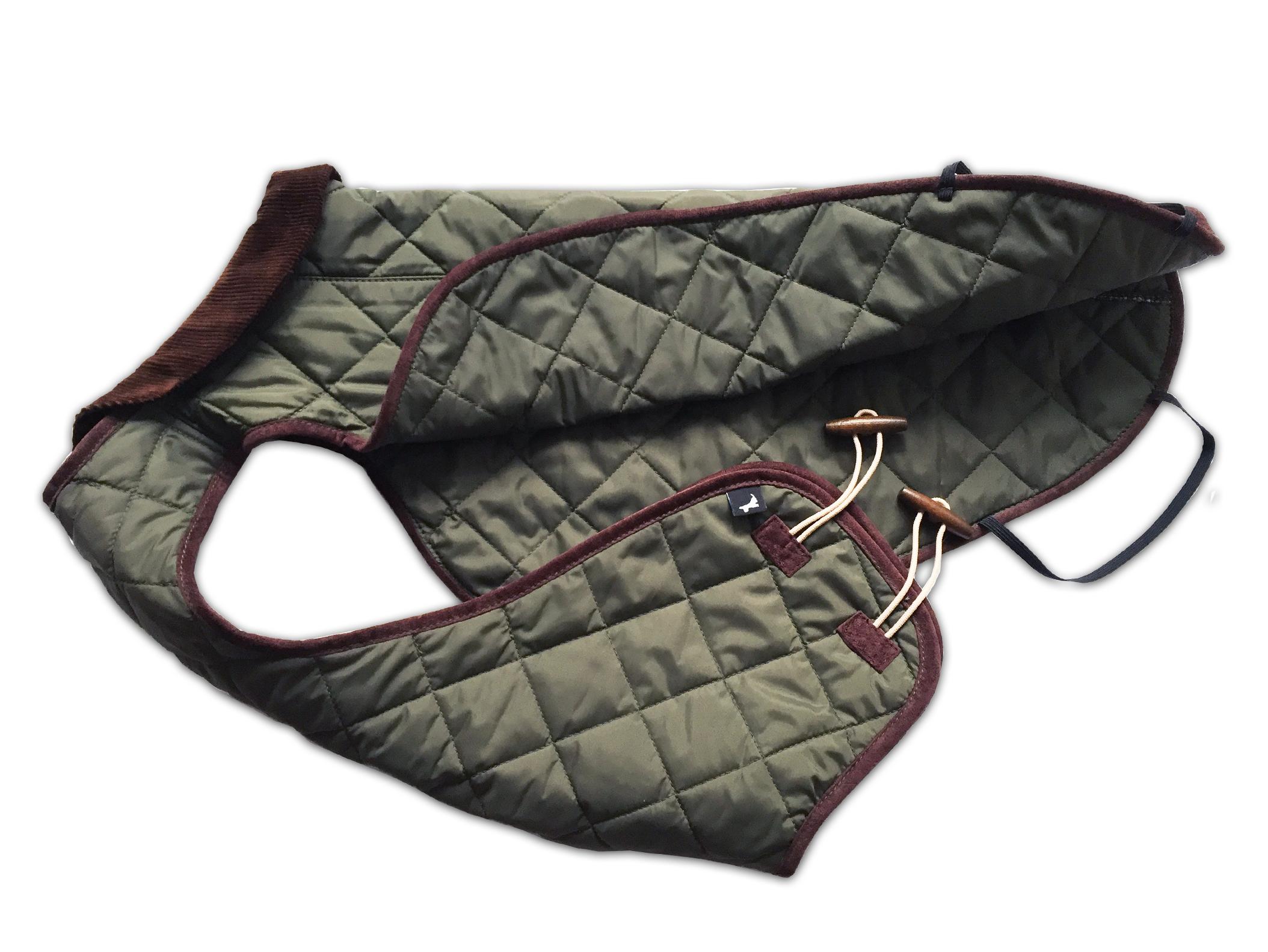 Mantel gesteppt grun