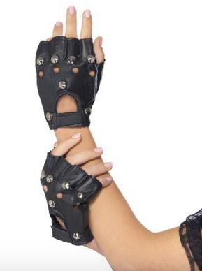 Guanti senza dita punk