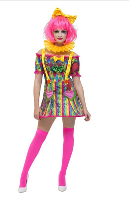 VESTITO CLOWN MULTICOLOR