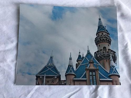 Disneyland Castle Metallic Print
