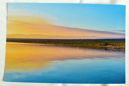 Mono Lake, CA, Sunrise over the water.