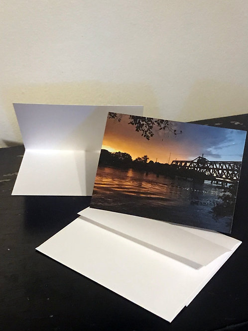 One Empty Greeting Card W/Envelope, Sunset.