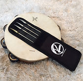 O'Donnell Multi Timbrel Triangle Beaters with Case and The  Harlan Tambourine