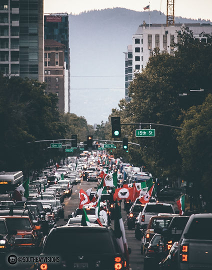 Image of Cinco de Mayo on Santa Clara Street in San Jose, CA