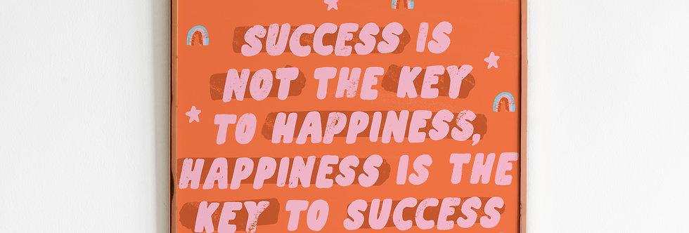 Happiness Print (8x8)