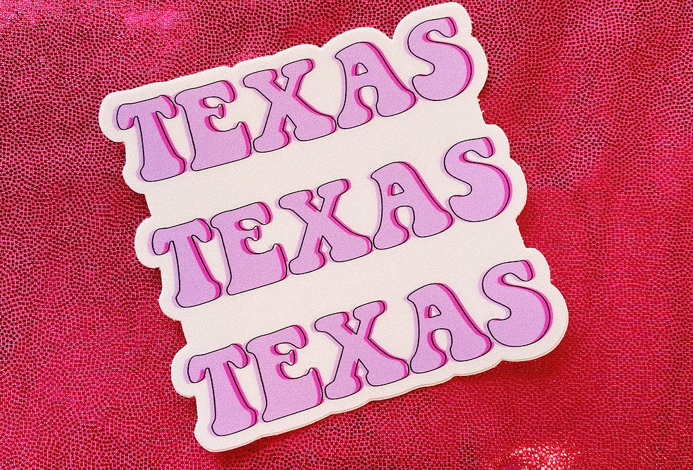 Retro Texas Sticker