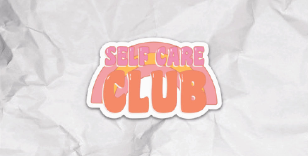 Self Care Club Sticker