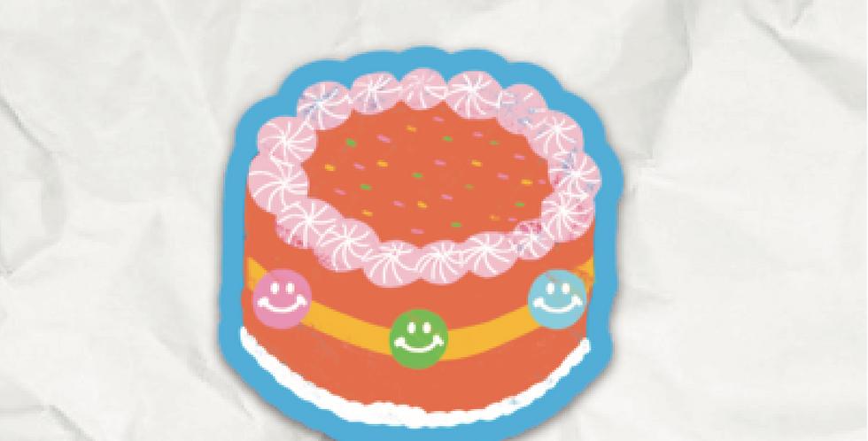 Smiley Cake Sticker