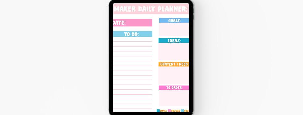 Maker Daily Planner