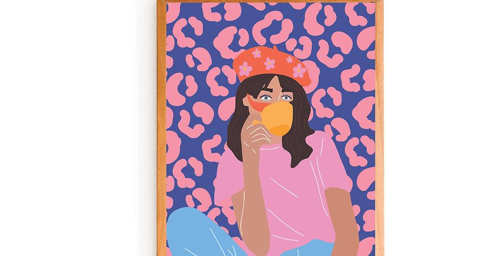 Happy Girl Print (8x10)
