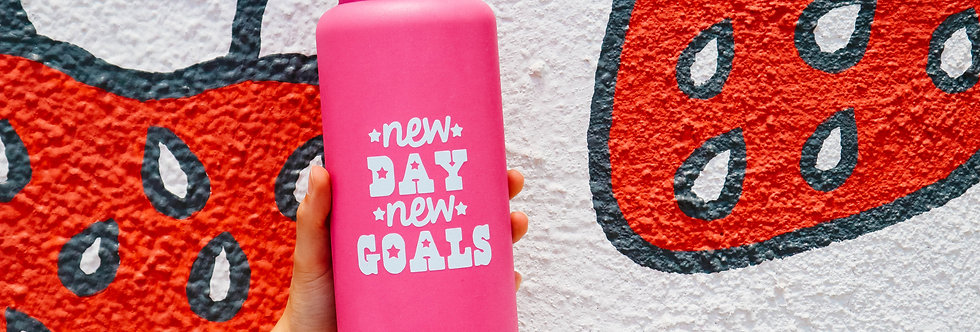 New Day New Goals- 32 OZ Hydro Water Bottle
