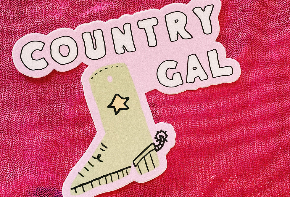Country Gal Sticker
