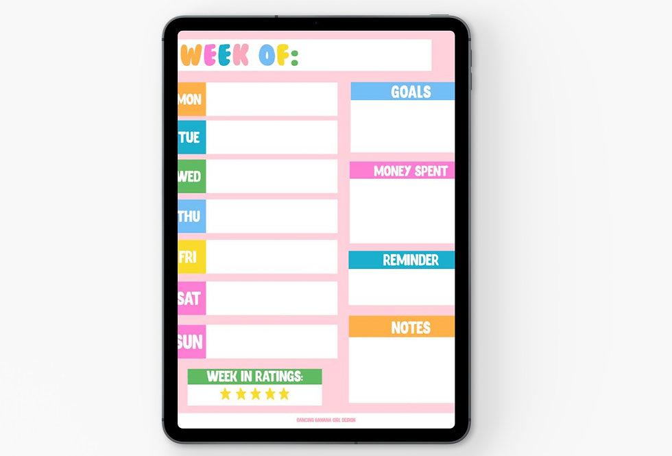 Weekly Planner Digital Download