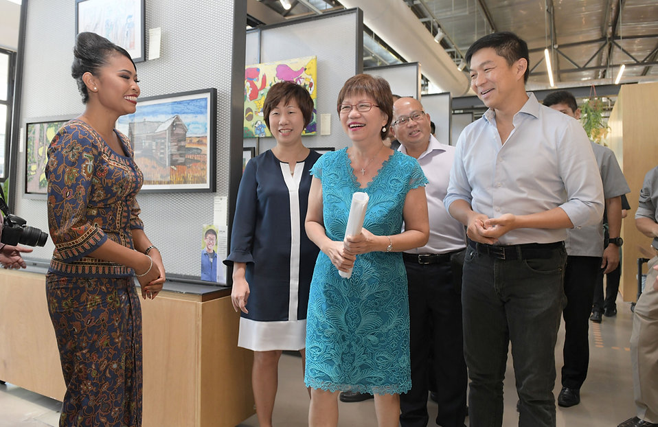 Picture showing CEO SG Enable, Ms Ku Geok Boon, President, Autism Resource Centre, Ms Denise Phua, SVP Singapore Airlines, Yeo Phee Teik, and Speaker, Tan Chuan Jin