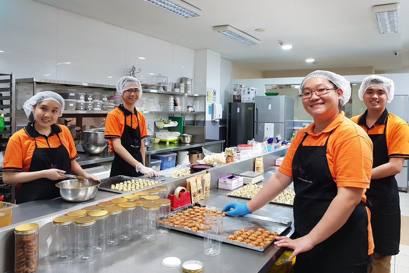 At Metta Café, bakers also learn how to make mooncakes with white lotus paste and melon seeds.