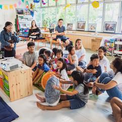 Children attending a workshop