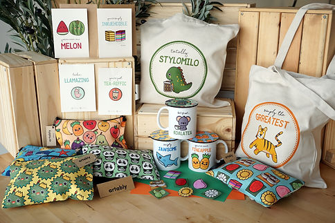 "The many adorable artworks include a tote bag of a green dinosaur drinking a cup of Milo, being ""totally stylomilo"", and patterns of animals and Singaporean treats on pouches and other merchandises."