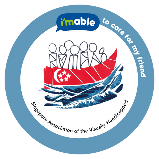 Artwork by Singapore Association of the Visually Handicapped showing a boat with people on it, representing Singaporeans from all walks of life, races, abilities and talents