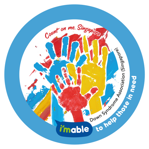 Artwork by Down Syndrome Association showing hands in different sizes and colours, illustrating strength in unity.