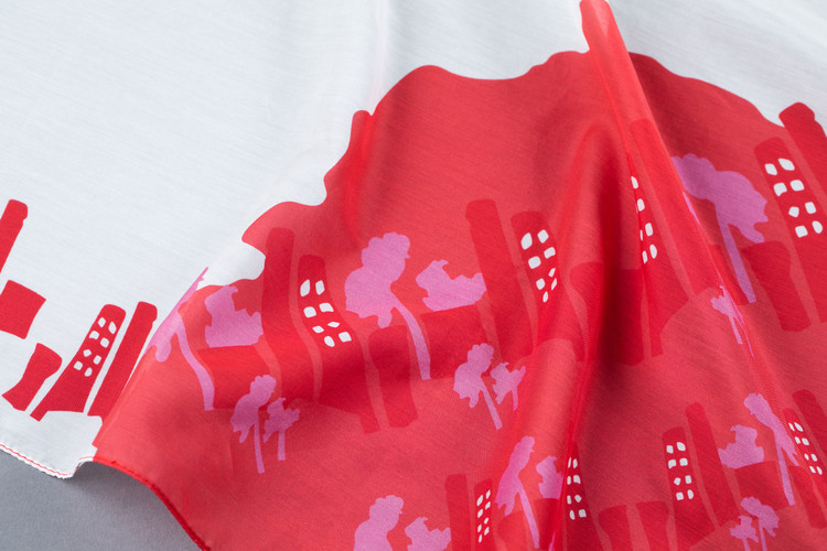 Silk-cotton Scarf by i'mable Collective