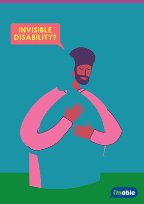 Image showing a person hugging a silhouette, suggesting invisible disability.