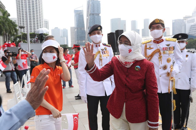 President Halimah Yacob at the National Day Parade. Photo credit: Ministry of Communications and Information