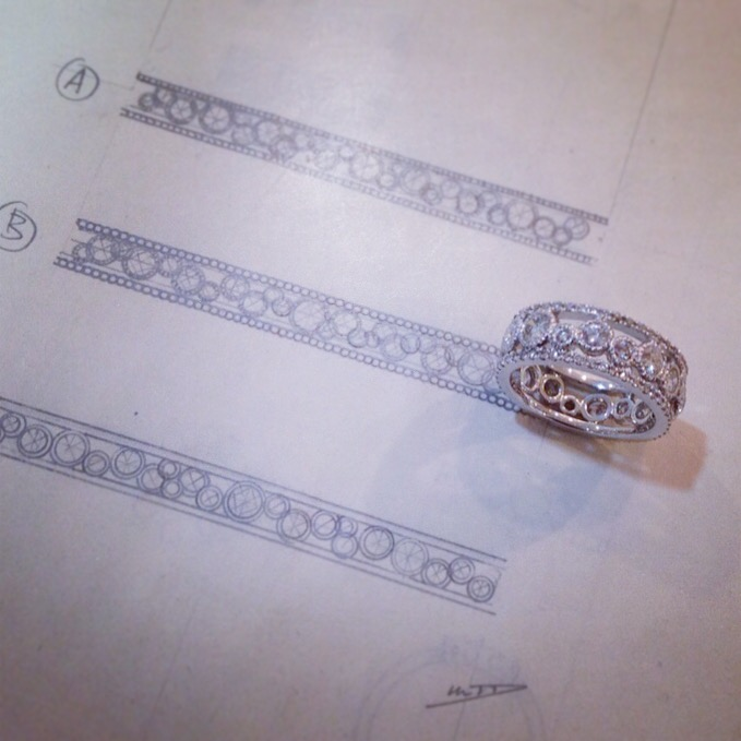 Lacy Diamond Ring