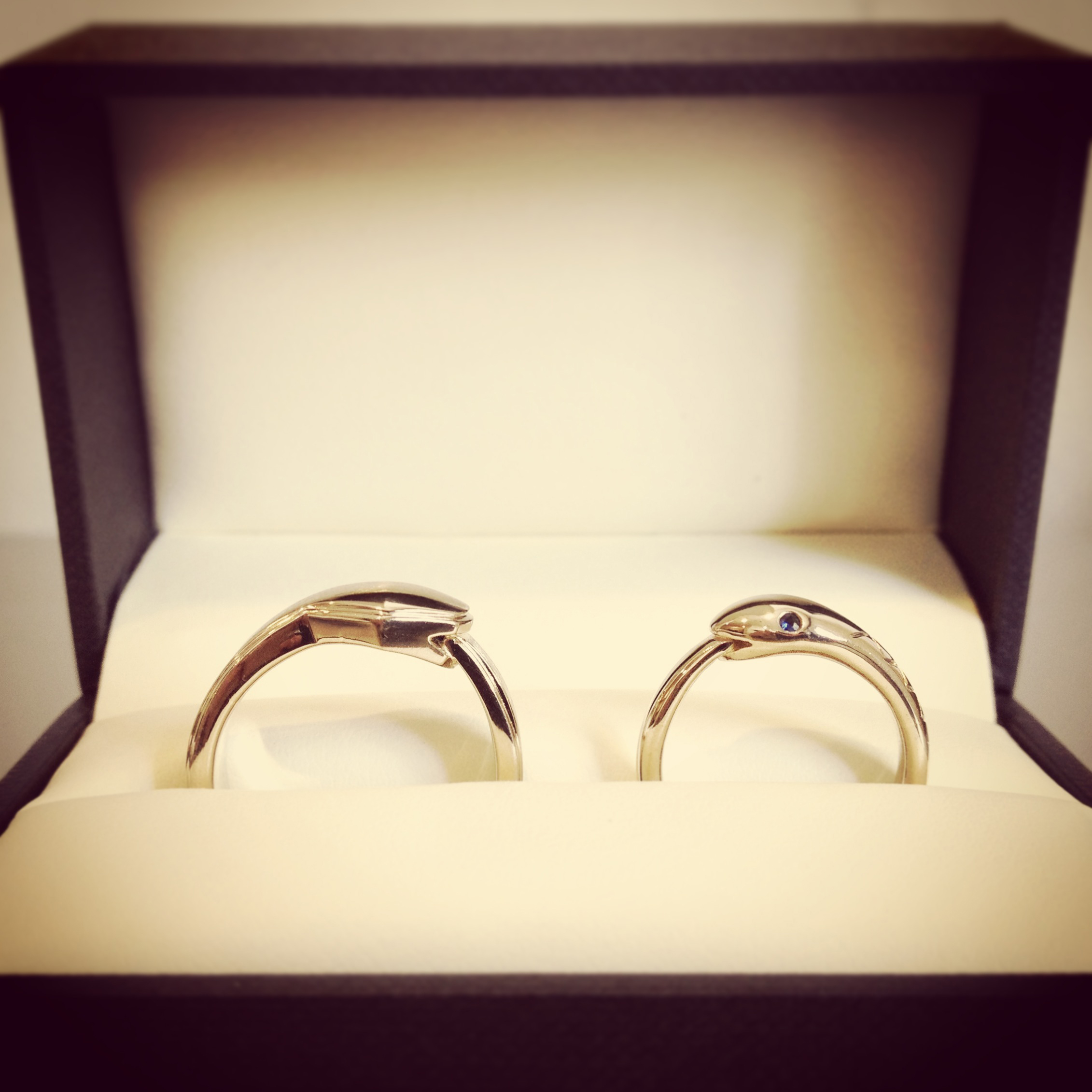 Ouroboros Wedding Rings