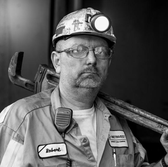 Artistic Magazine Photography, location business portraits, Black & White Photography, John Sibold, photographer, coal mine, industrial, aeral photos