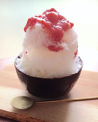 スノウドロップ 天然氷のかき氷 いちご練乳