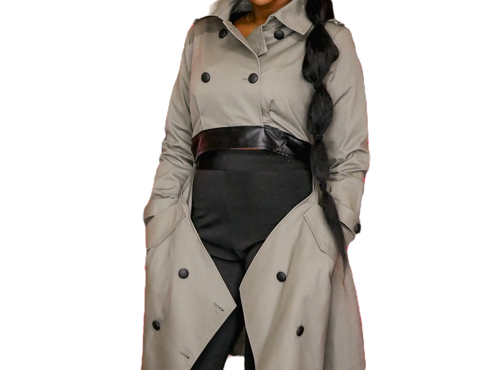 Dramatic Belted Trench