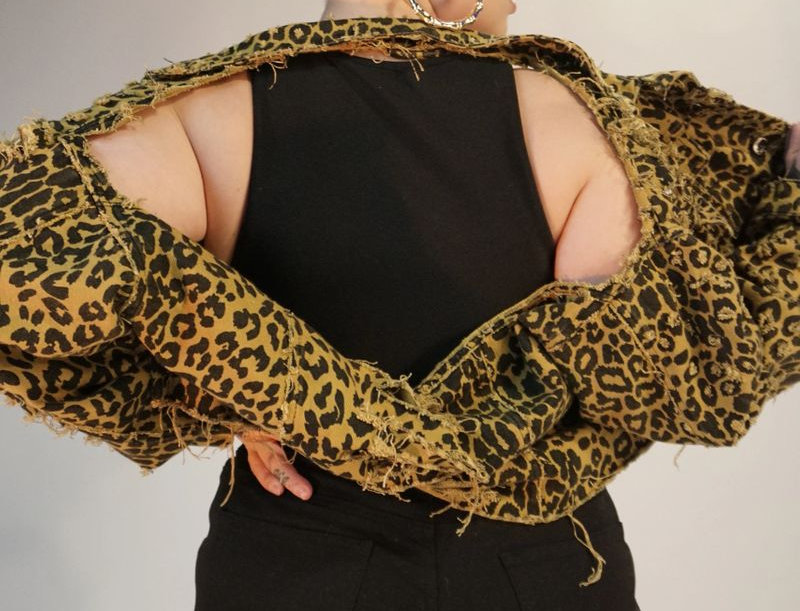 Cheetah Halter Crop Jacket