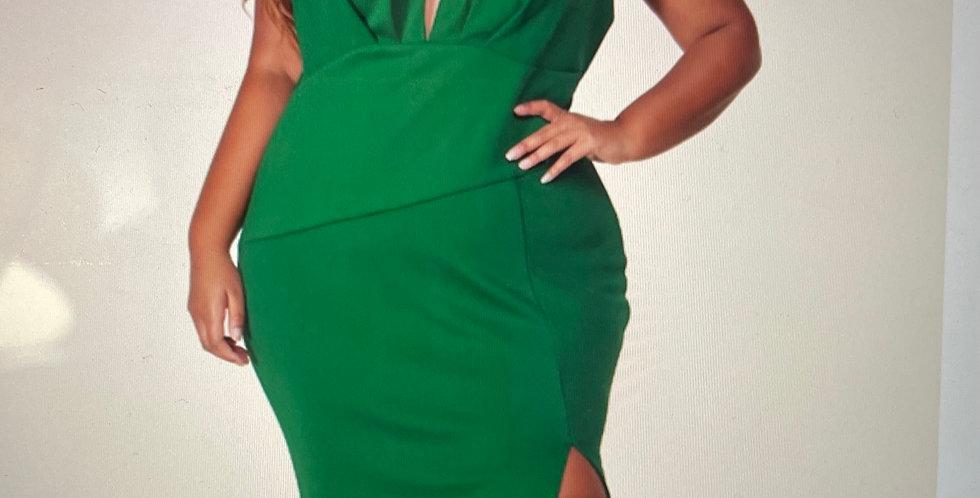 Hunter Green Mermaid Dress